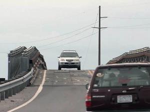 Engineers used a temporary bridge to reopen N.C. Highway 12 on Hatteras Island after Hurricane Irene ripped holes in the two-lane highway.