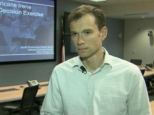 Jamie Rhome, storm surge specialist at the National Hurricane Center