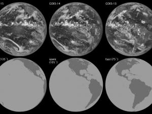 Comparing views from GOES weather satellites (Credit: NOAA/NASA)