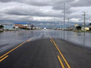 Hurricane Sandy left up to 3 feet of standing water on U.S. Highway 158 Bypass in Kill Devil Hills that authorities hoped to start pumping out on Oct. 30, 2012.