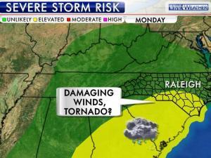 Severe storm risk for Monday, Dec. 16, 2012