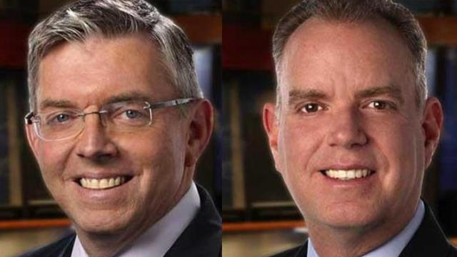 WRAL meteorologists Greg Fishel and Mike Maze