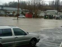 Floods sweep Biltmore Village in Asheville