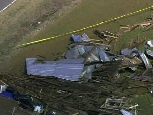 An EF0 tornado touched down on Feb. 26, 2013, near Selma, destroying a barn and damaging a few other buildings. No injuries were reported.