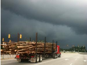Storm clouds over Henderson at lunch thanks Curtis