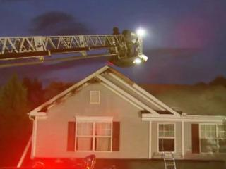 In Holly Springs, lightning struck a home on Westcott Court, sparking a blaze in the attic that caused significant damage to the rest of the home, according to the town's fire department.