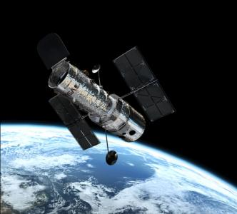 Hubble Space Telescope in orbit. Image provided by NASA.