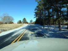 Officials with Granville County Public Schools took pictures of icy roads and posted them on the department website to show parents why school has been delayed.