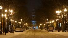 Fayetteville snow, Jan. 29, 2014
