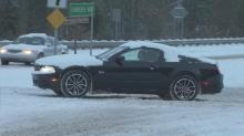 Snow covers Raleigh roads