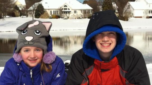 Nathan and Melanie Ritchie enjoying their snow day in Wake County! - Submitted by Carrie Ritchie
