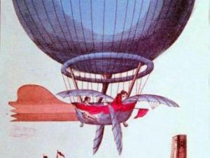 John Jeffries takes a historic balloon flight over London in 1784. (Photo courtesy of National Weather Service)