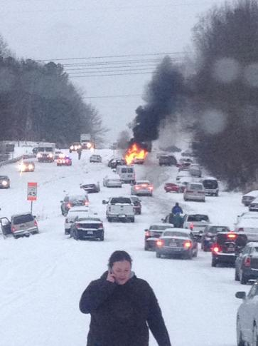 Raleigh Woman S Snow Photo Goes Viral