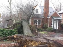 Freezing rain and gusty wind pulled down trees, caused power outages and prompted minor flooding in some central North Carolina counties on Friday, May 7, 2014.