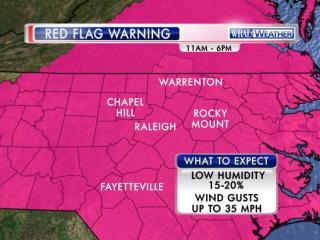 Red flag warning, Thursday, March 13, 2014