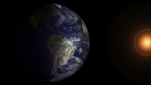 The 2013 Vernal Equinox as seen from NOAA's GOES-13 weather satellites, Equinoxes are the only time when the solar terminator is perpendicular to the equator (NOAA)