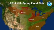 2014 US spring flood risk