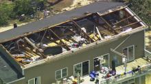 Tornado damage in Beaufort County
