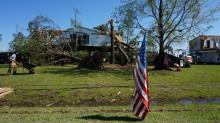 IMAGES: McCrory declares emergency in four storm-ravaged counties