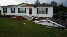 Storm damage in Stedman