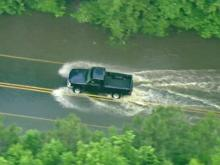 Heavy rains swamp Triangle roads