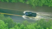Heavy rains swamp Triangle roads