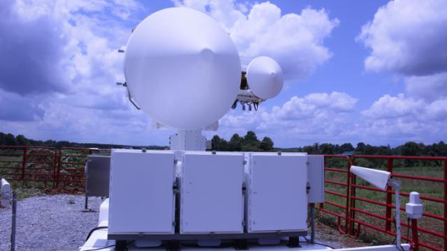 A dual-band, dual-pol radar as part of the IPHEx field campaign. (Tony Rice/WRAL)