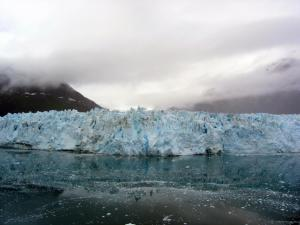 A view of the most impressive glacier we saw, which calved a time or two while we stood by. This is the Margerie glacier in Glacier Bay, AK.