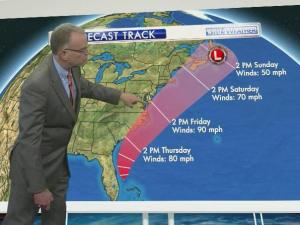 WRAL meteorologist Mike Maze explains Tropical Storm Arthur's growth.