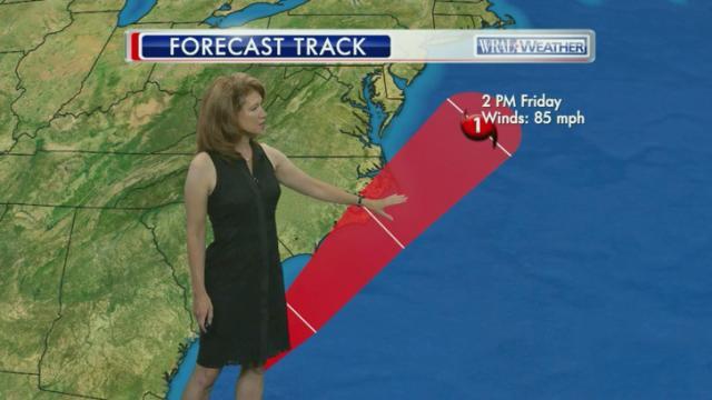 Hurricane Arthur forecast path