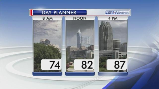 Day planner for Monday, Aug. 18