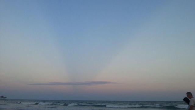 Emerald Isle crepuscular rays