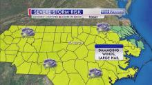 IMAGES: Powerful storms to arrive in Triangle overnight