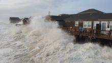 IMAGES: Forming storm knocks out some Outer Banks phone service