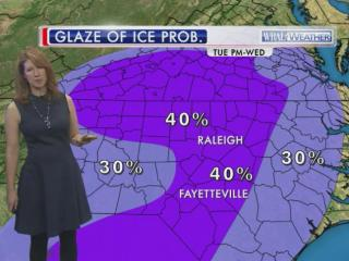 There is the chance for a glaze of ice on roads Wednesday morning, Jan. 14, 2015.