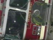 Fire truck flips in Orange Co.