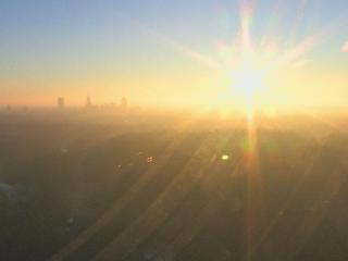 The WRAL tower camera captures sunrise on Friday, Jan. 16, 2015.
