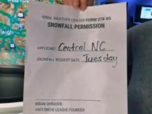 Shrader signs off on Tuesday snow