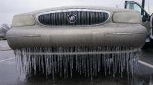 Ice on car