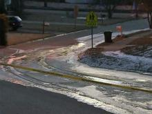 A water main break closed part of Ingram Drive in Raleigh on Friday, Feb. 20, 2015.