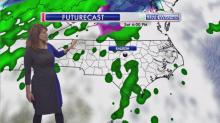 IMAGES: Warmer air, rain headed for NC after frigid Friday
