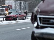 Slick roads result in multiple wrecks across central NC