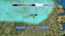 IMAGES: Snowfall totals vary widely across area as storm pushes out