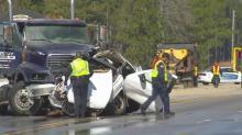 IMAGES: Black ice blamed for Friday-morning wrecks
