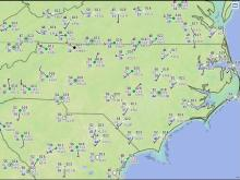 Surface weather observations from the interactive METARS mapping feature of NOAA's Aviation Weather Center web site.