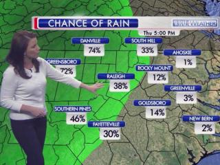 Rain chances, 5 p.m., March 19, 2015