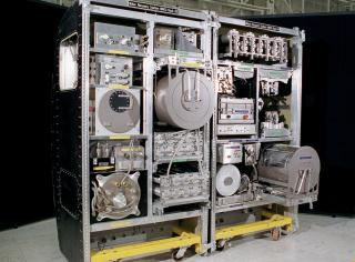 Water treatment systems aboard the ISS make use of forward and reverse osmosis to recycle water used aboard (credit: NASA)