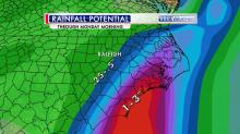 Rainfall totals forecast, May 8-11, 2015