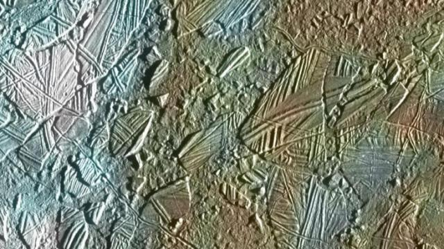Bizarre features on Europa's icy surface suggest a warm interior.