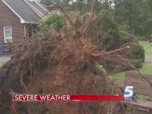 Severe weather rocks central NC